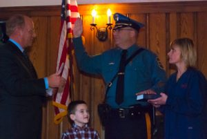 Swearing in of Chief Conway